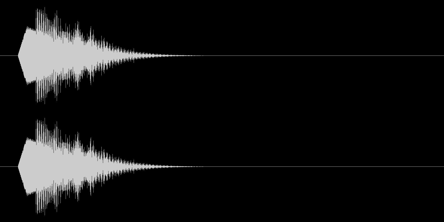 ポップな下降音/残念/落下/キャンセルの未再生の波形