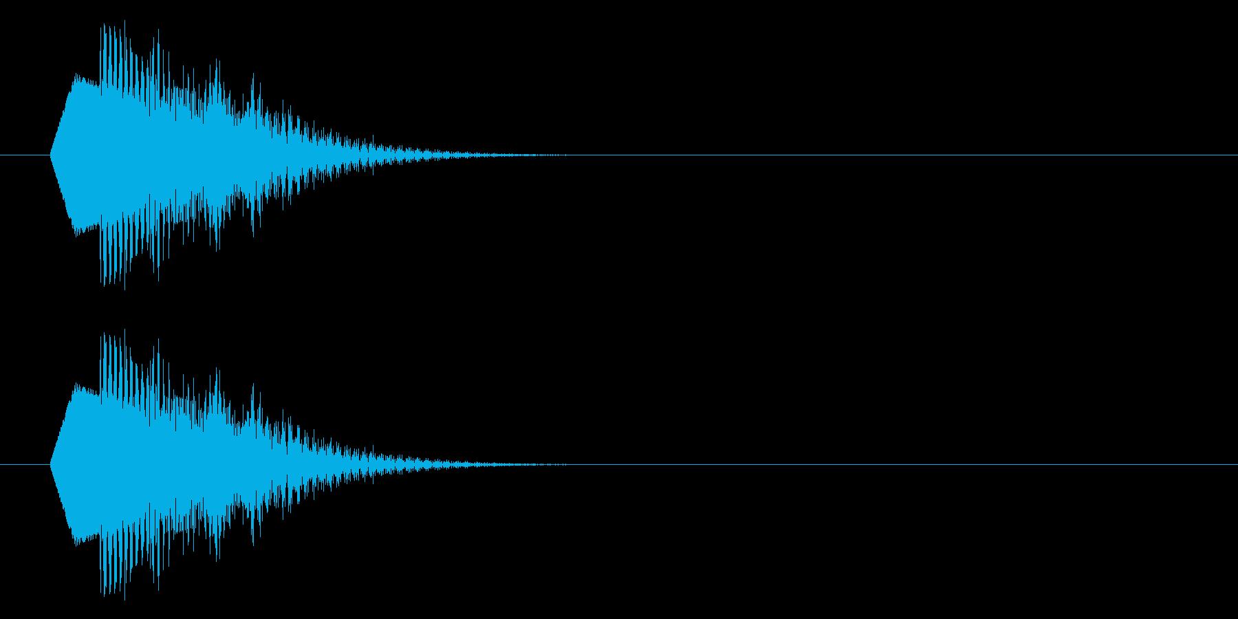 ポップな下降音/残念/落下/キャンセルの再生済みの波形