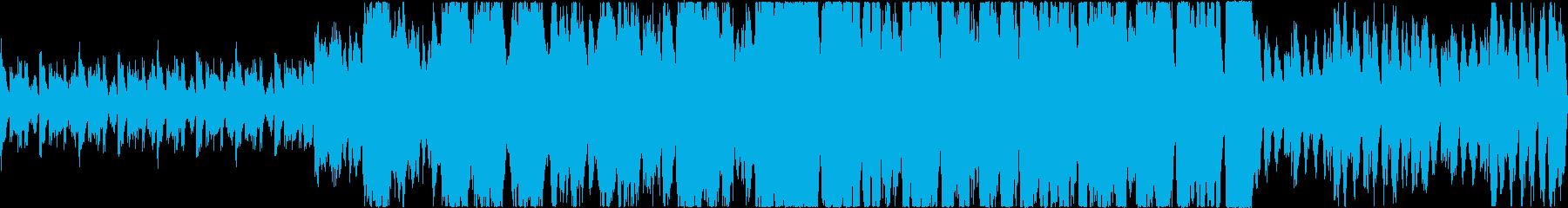 勇壮なイメージのオーケストラ(マーチ)曲の再生済みの波形