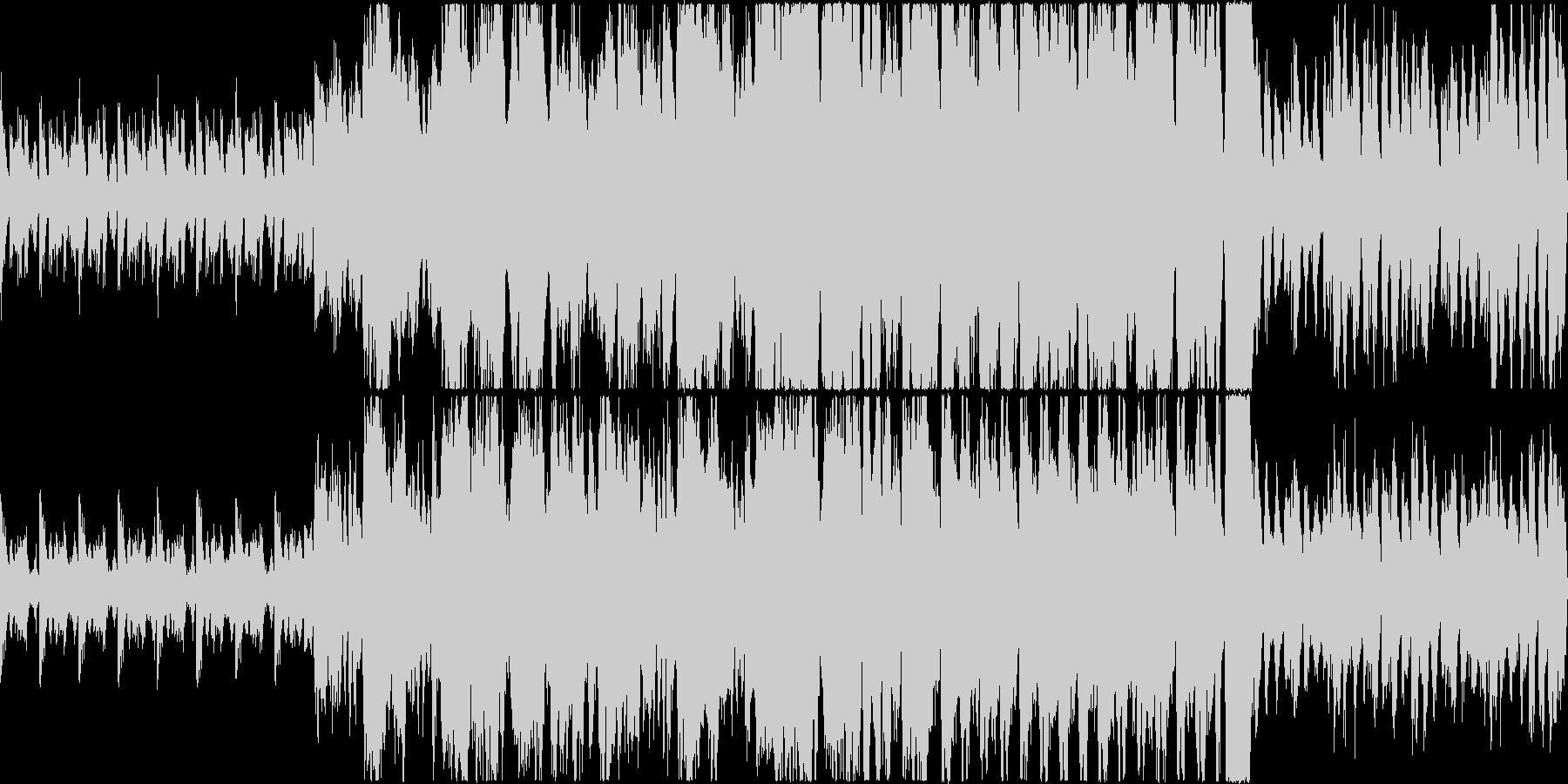勇壮なイメージのオーケストラ(マーチ)曲の未再生の波形