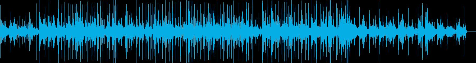 のんびりとした暖かいピアノインストの再生済みの波形
