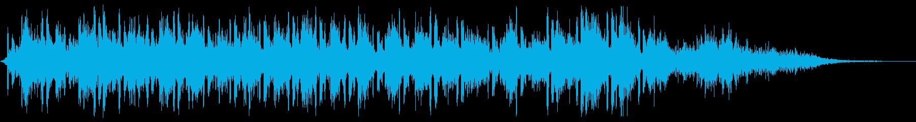 【銃声音018】マシンガンの再生済みの波形