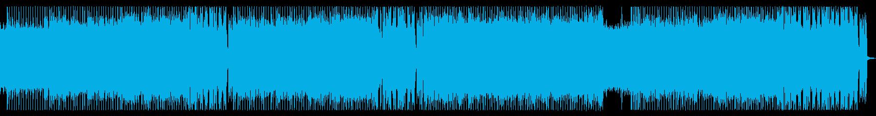 力強いクールなロックの再生済みの波形