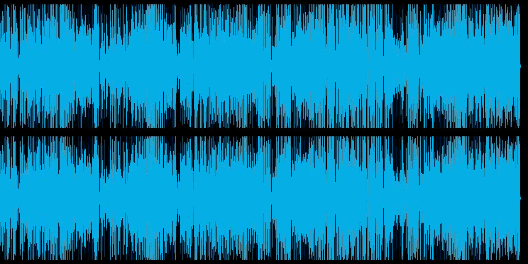 緊迫感のあるデジタルファンクの再生済みの波形