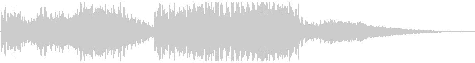 始まりで盛り上がるデジタルBGMの未再生の波形