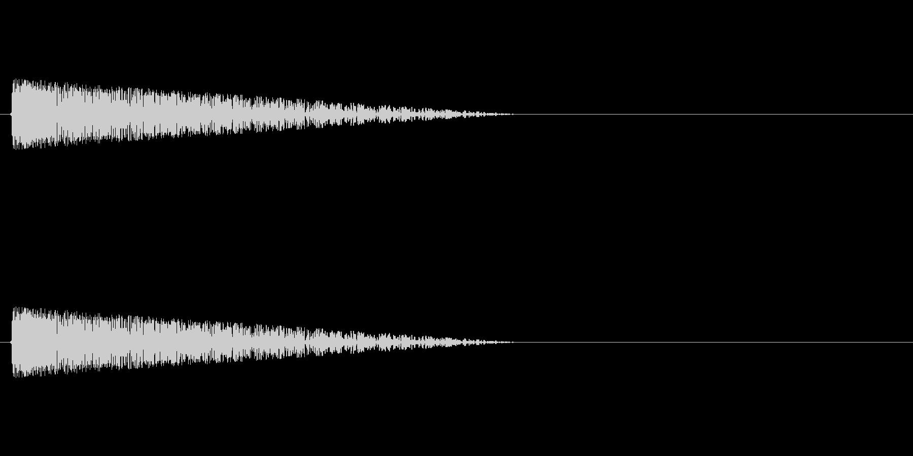 バァ~ン!! ファミコン風爆発音の未再生の波形