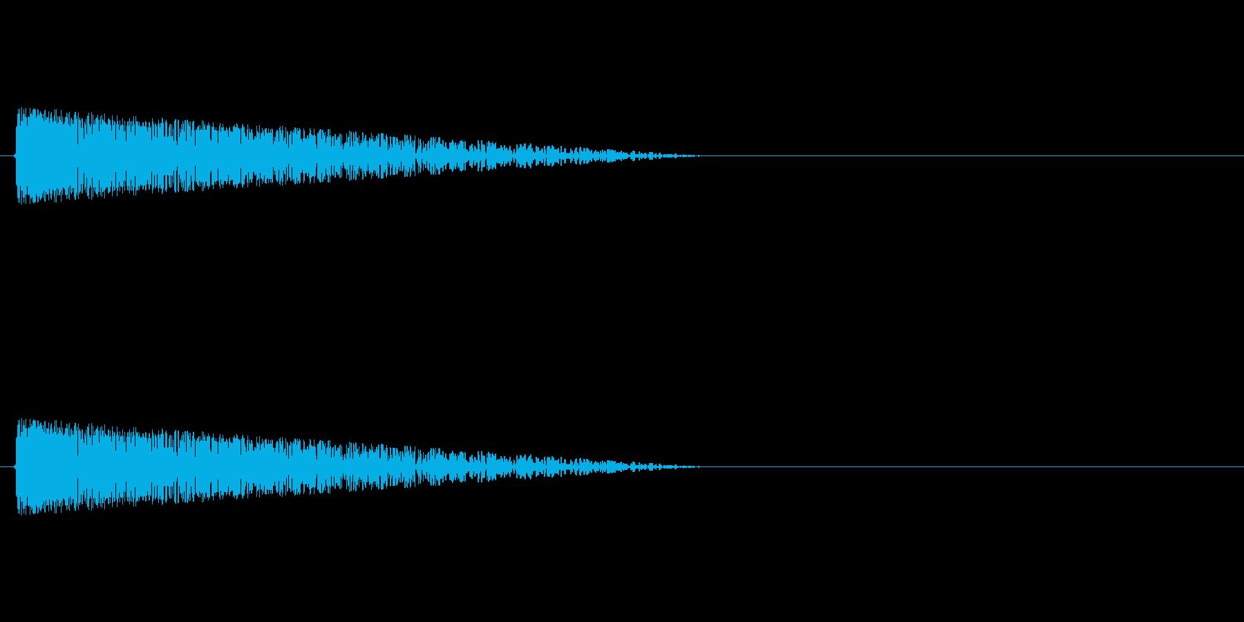 バァ~ン!! ファミコン風爆発音の再生済みの波形