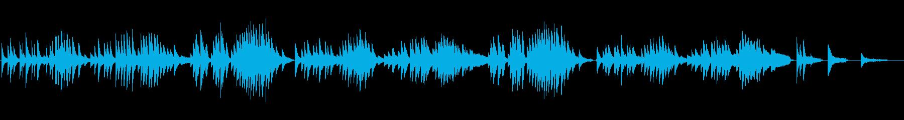 ノスタルジックなピアノ「故郷にて」の再生済みの波形