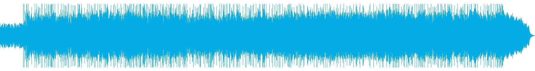 躍動感のある激しいハードロックの再生済みの波形
