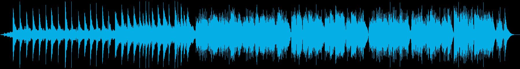 ギターと風鈴によるヒーリング曲の再生済みの波形
