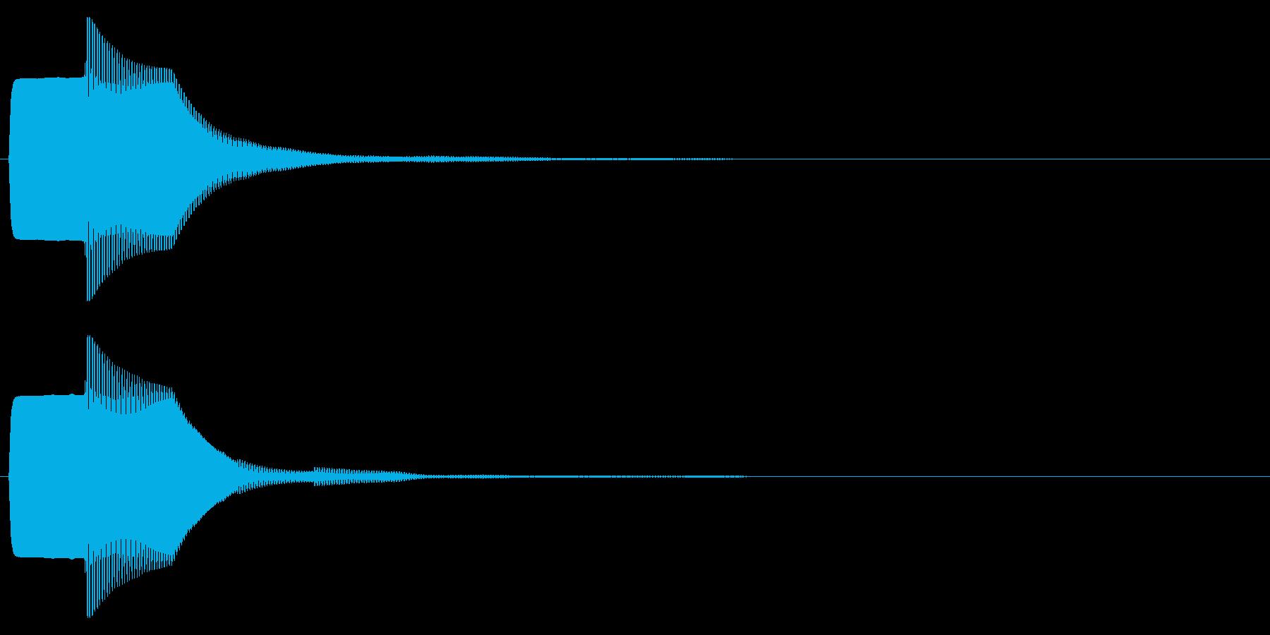 ピコン(キャンセル,終了,停止)_04の再生済みの波形