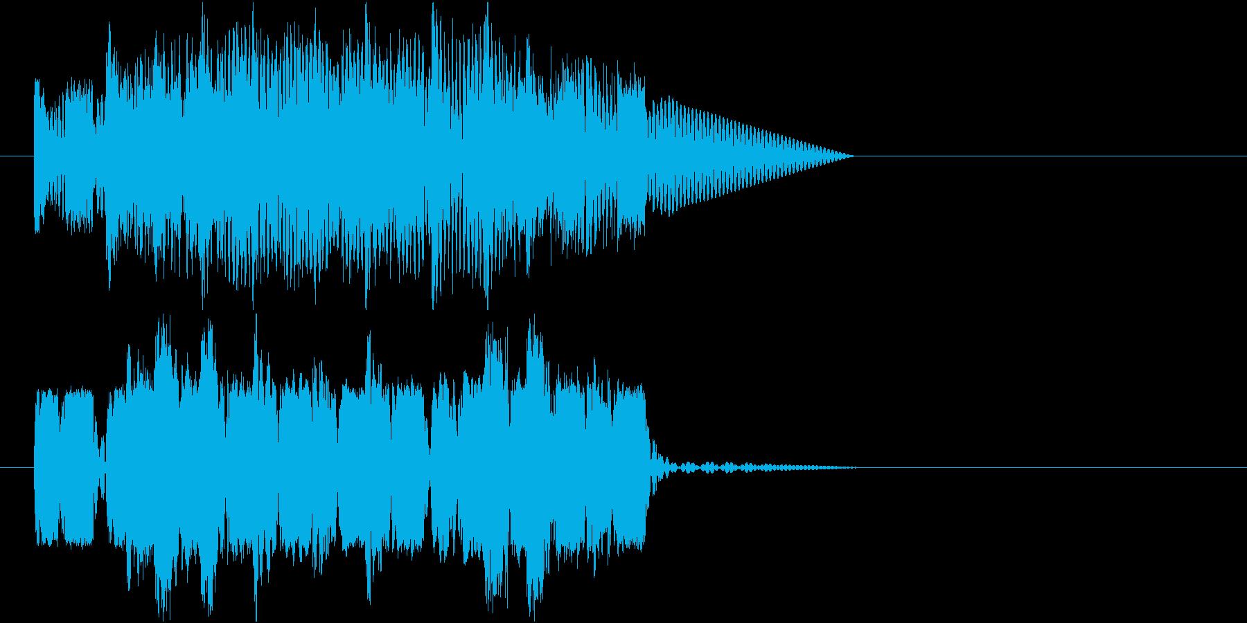 ロボットサウンド 機械音(ピコピコピコ)の再生済みの波形