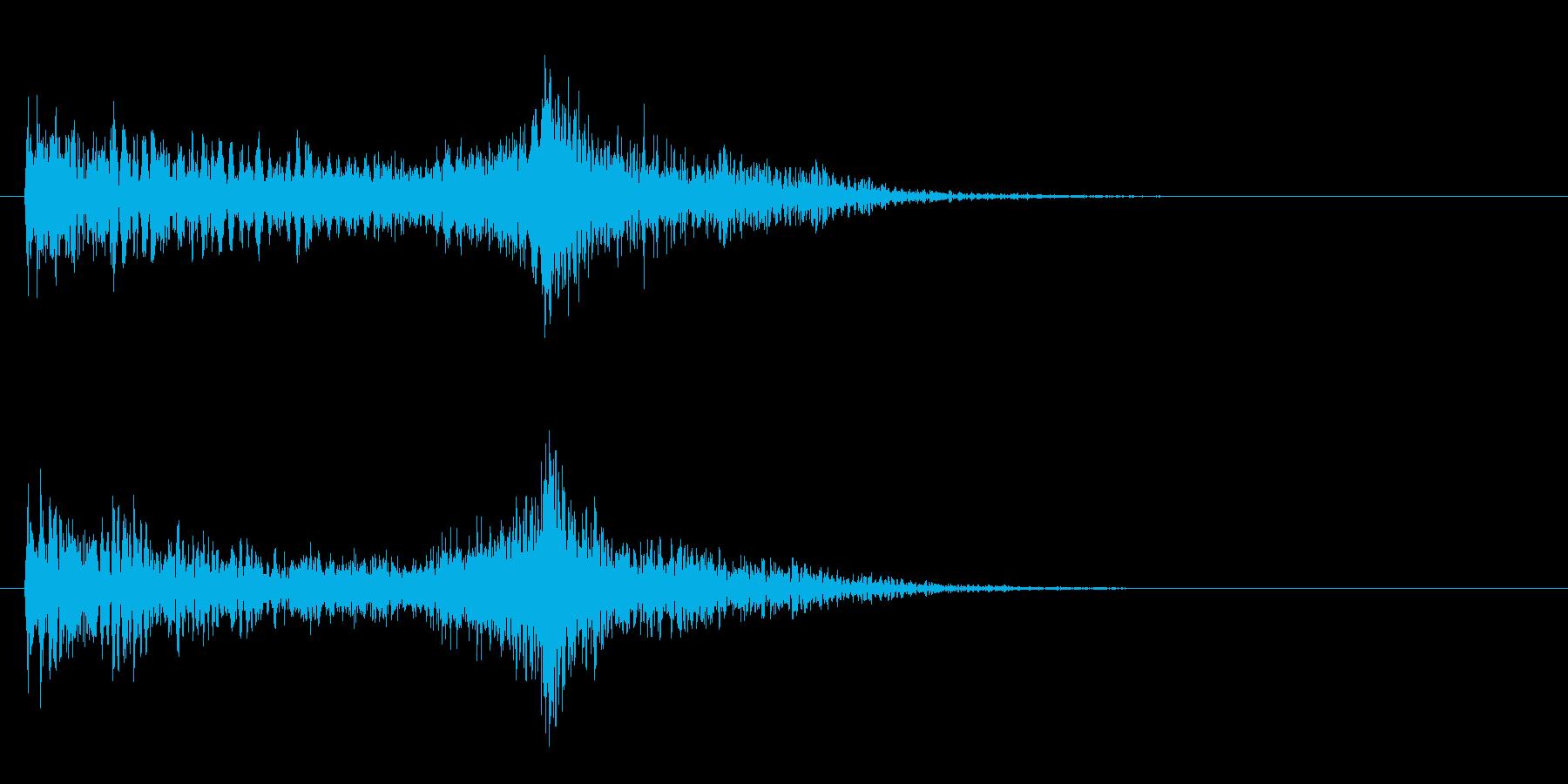 メタリックトーンによる深い影響の再生済みの波形
