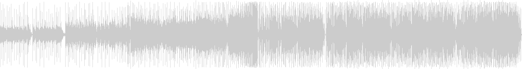 ループ音源のトロピカルハウスの未再生の波形