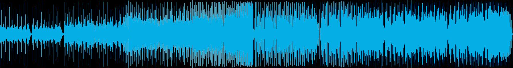 ループ音源のトロピカルハウスの再生済みの波形