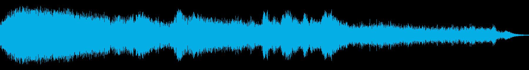 群集YOOOハイピッチエールアットエンドの再生済みの波形