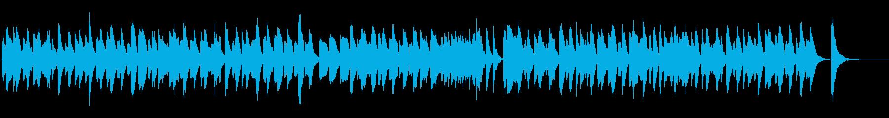 軽快で楽しげなラグタイムピアノの再生済みの波形