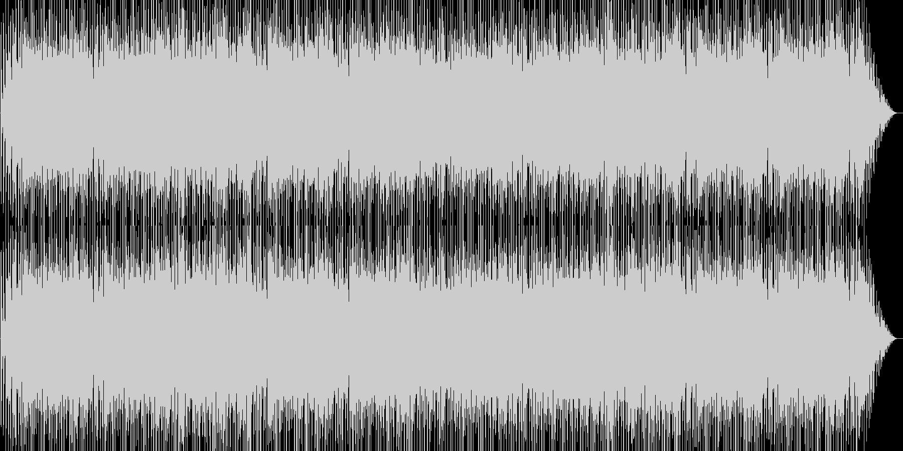 疾走感と勢いのあるピアノ・シンセなどの曲の未再生の波形