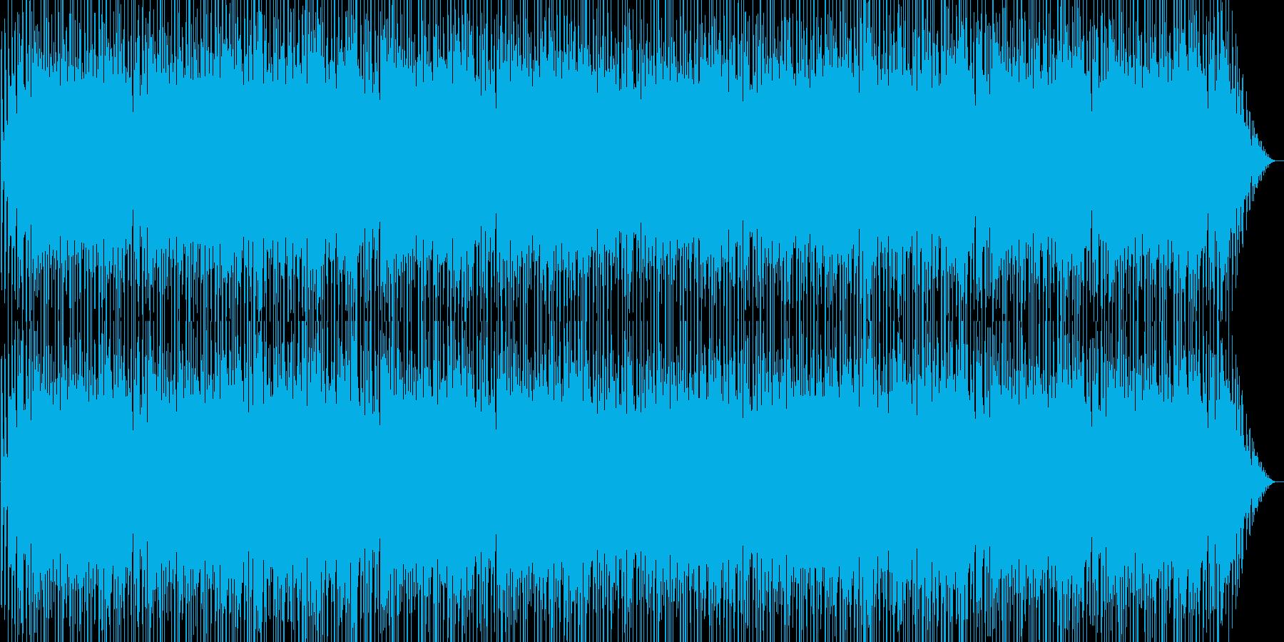 疾走感と勢いのあるピアノ・シンセなどの曲の再生済みの波形
