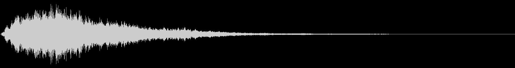 キラキラ輝く テロップ音 ボタン音01の未再生の波形