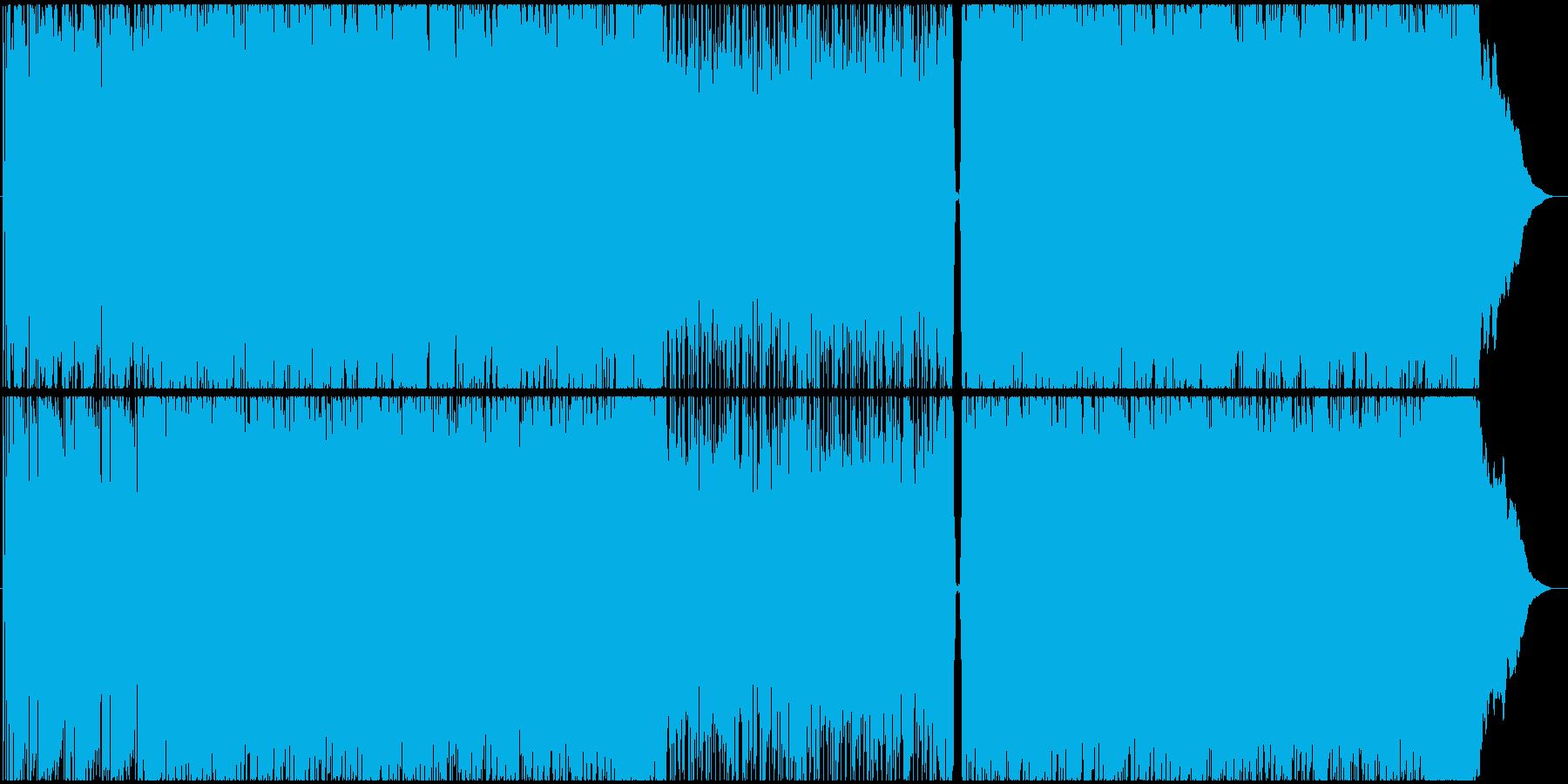疾走感のある爽やか夏系パンクロックの再生済みの波形
