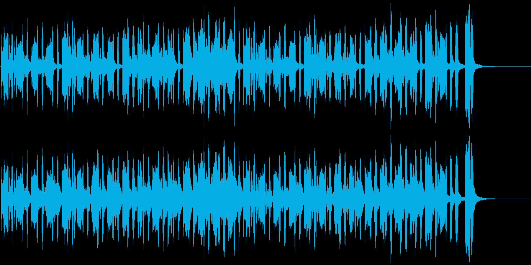 かわいく哀愁あるマリンバとアコーディオンの再生済みの波形