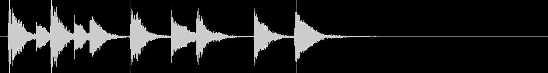 可愛い・ルンルン気分のピアノソロジングルの未再生の波形