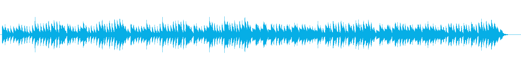 やさしいピアノ、チェルニーNo.4の再生済みの波形