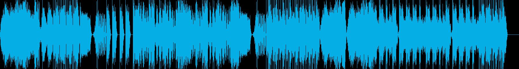ゴツいイメージのテクノの再生済みの波形