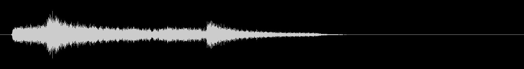 テーマ1:ピアノ、パーカッションの未再生の波形