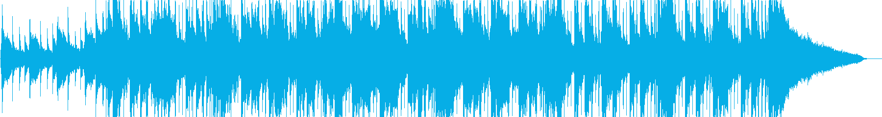 切なくワクワク感あるピアノとストリングの再生済みの波形