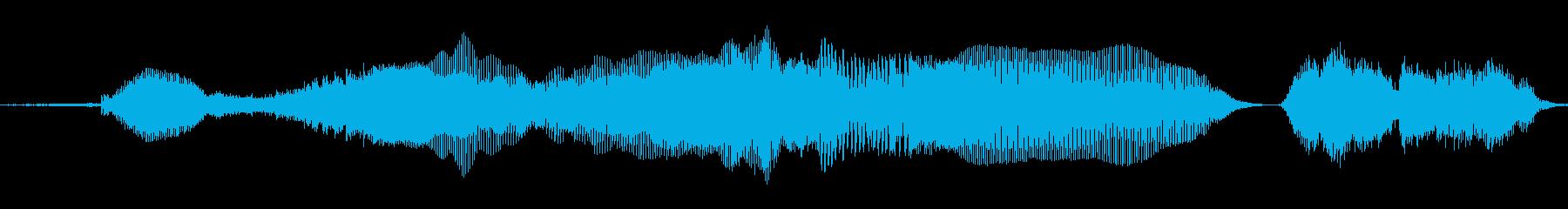「だめぇ!」の再生済みの波形
