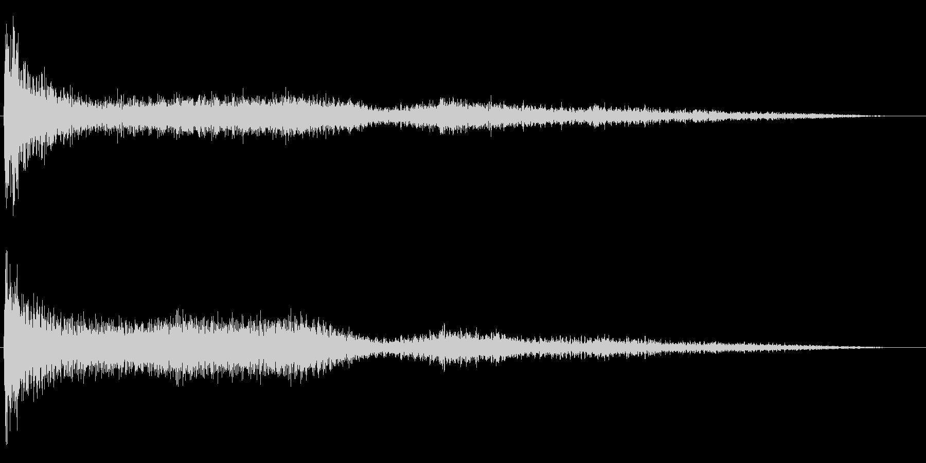 ホラー映画に出てきそうなノイズ系音源07の未再生の波形