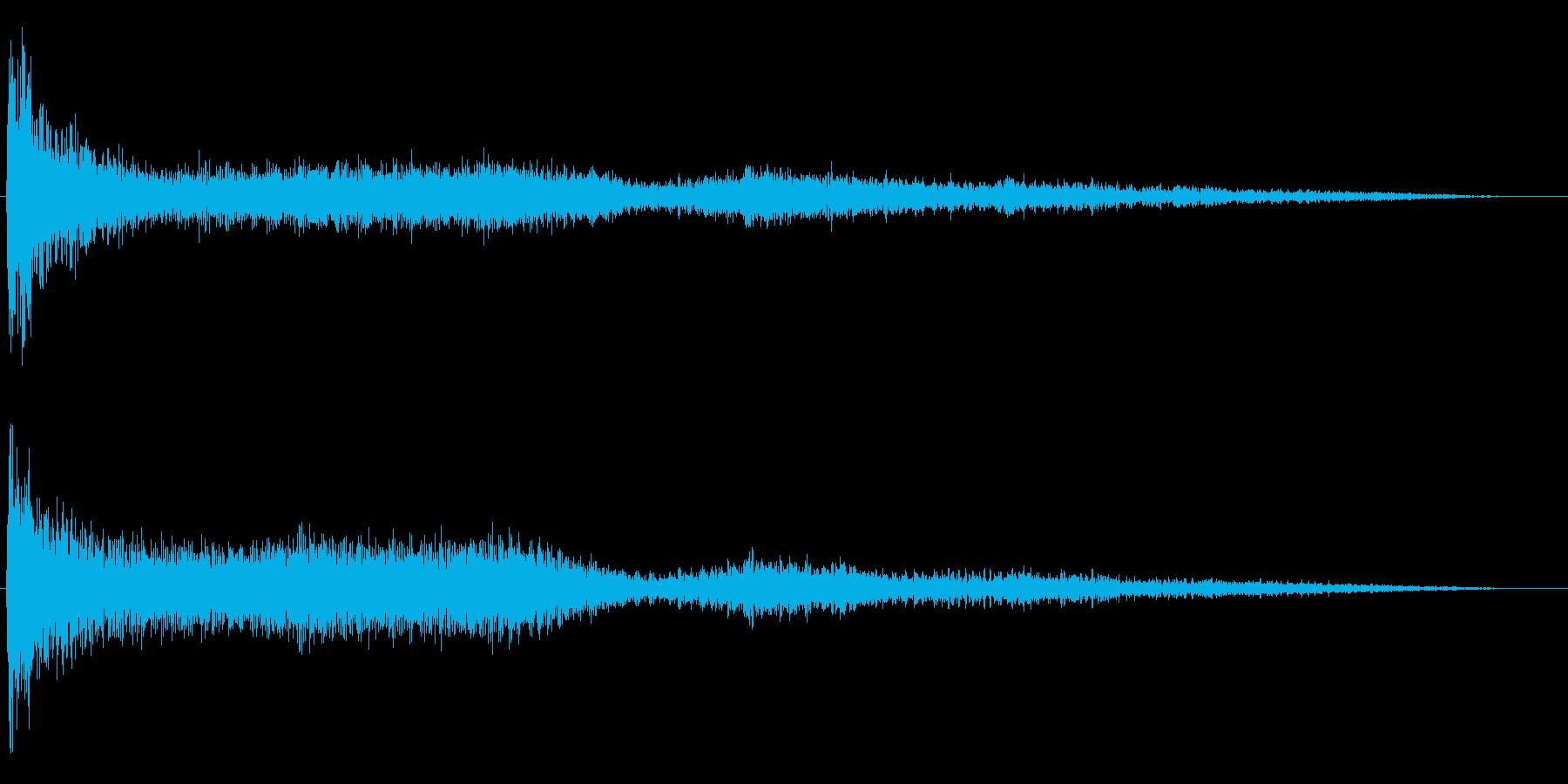 ホラー映画に出てきそうなノイズ系音源07の再生済みの波形