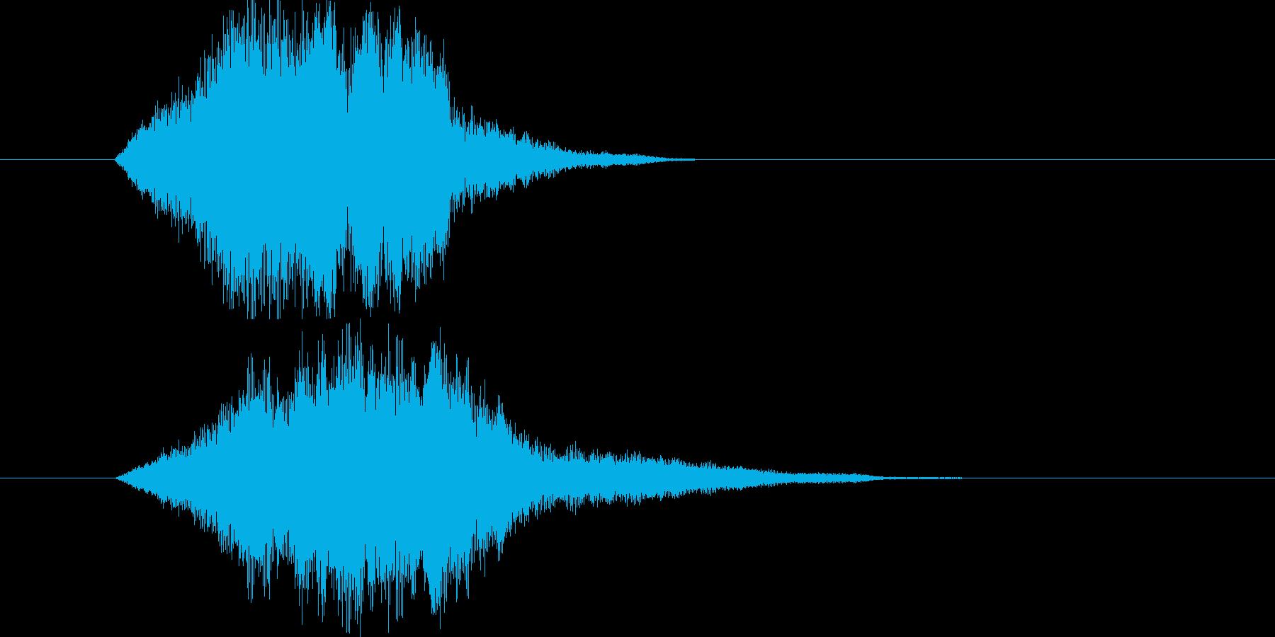 ヒューンという車が速く通った時の音の再生済みの波形