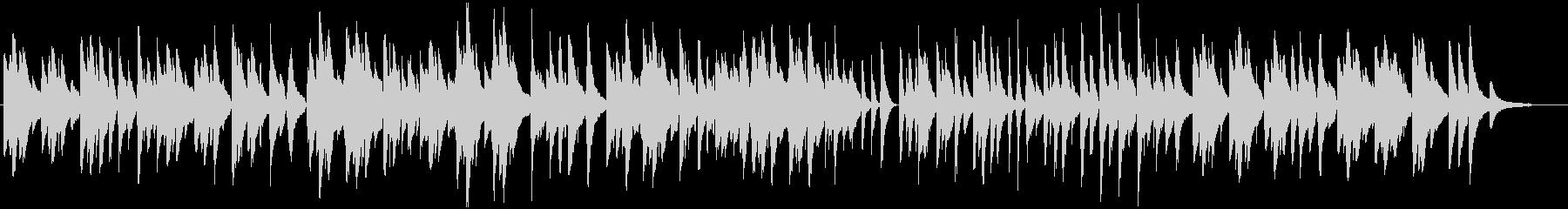 優しくかわいいピアノBGMの未再生の波形
