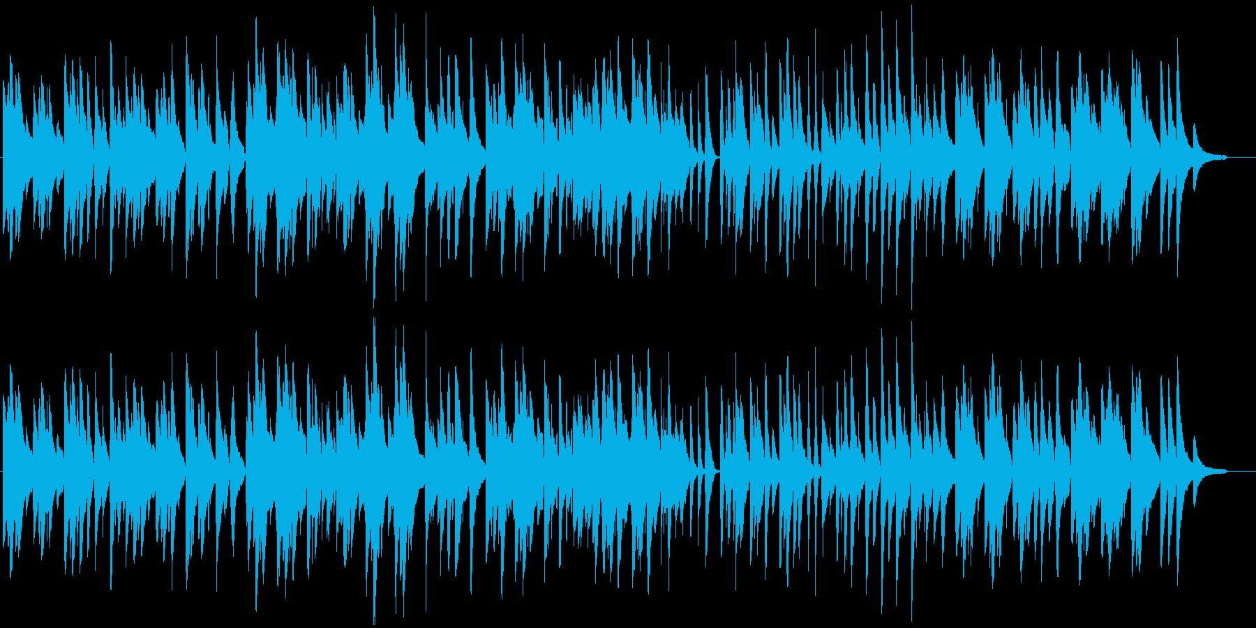 優しくかわいいピアノBGMの再生済みの波形