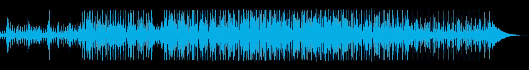 ダークな印象のEDMの再生済みの波形