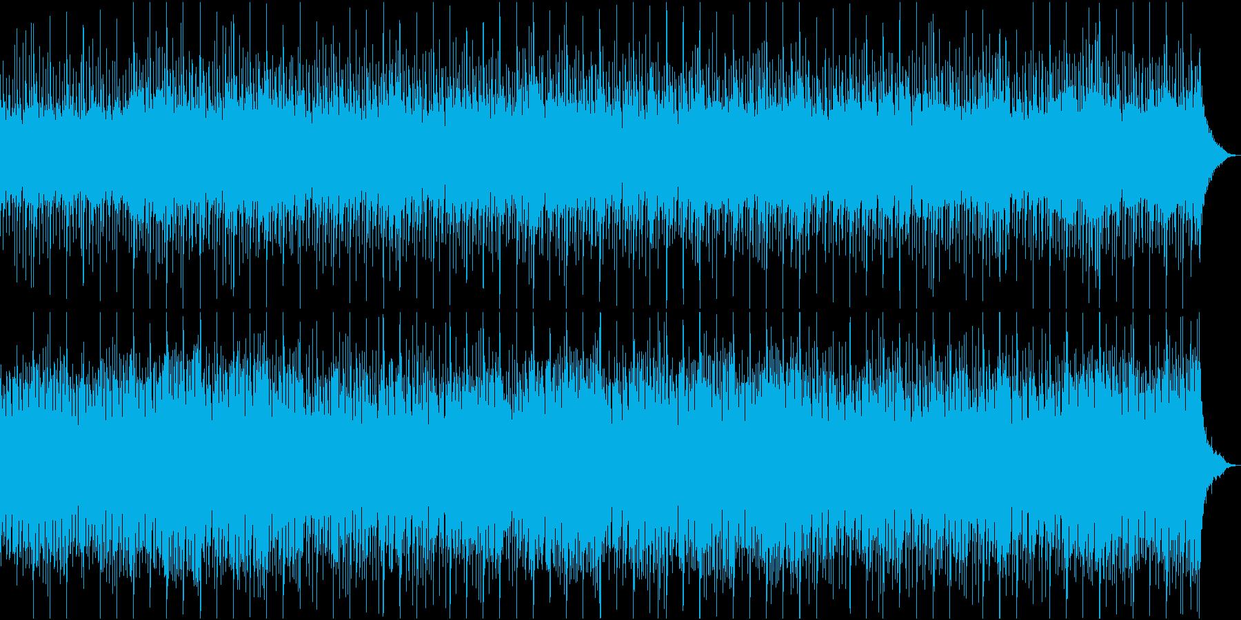 幻想的でゆったりとした雰囲気のEDMの再生済みの波形