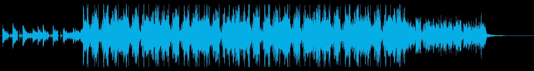 洋楽ポップ、アコギ、ムード、トラップの再生済みの波形