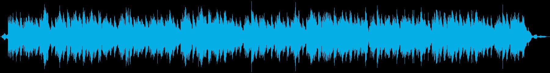 ヨガや瞑想・海の波音(エレキ・シンセ)の再生済みの波形