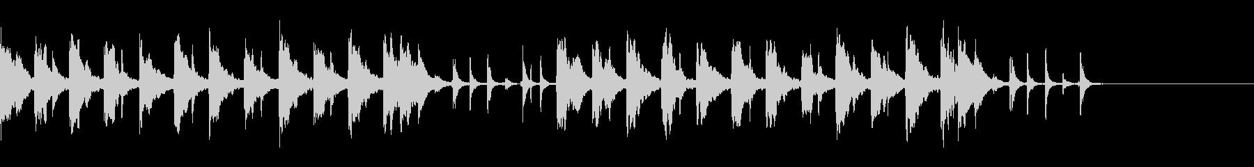 明るくポップなBGMの未再生の波形