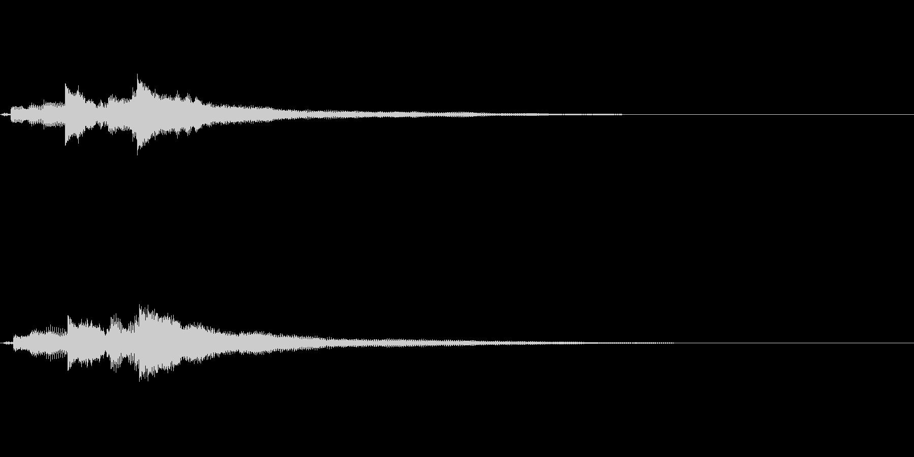 優しい音色のギターサウンドロゴの未再生の波形
