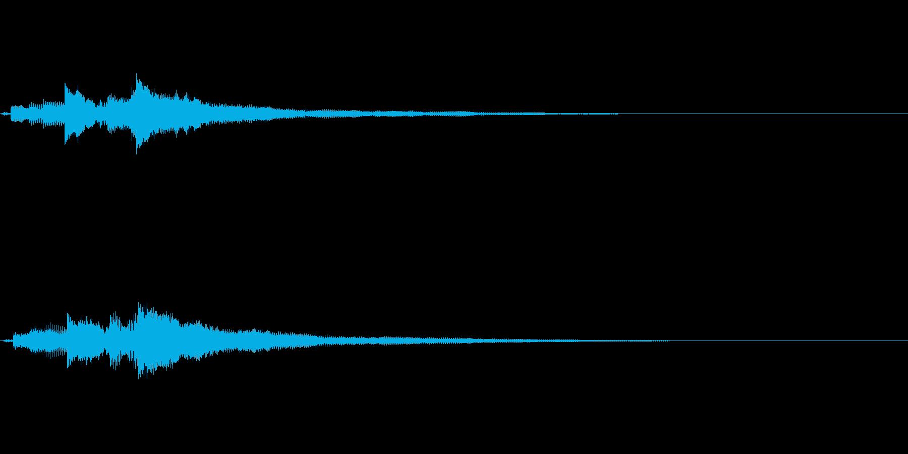 優しい音色のギターサウンドロゴの再生済みの波形