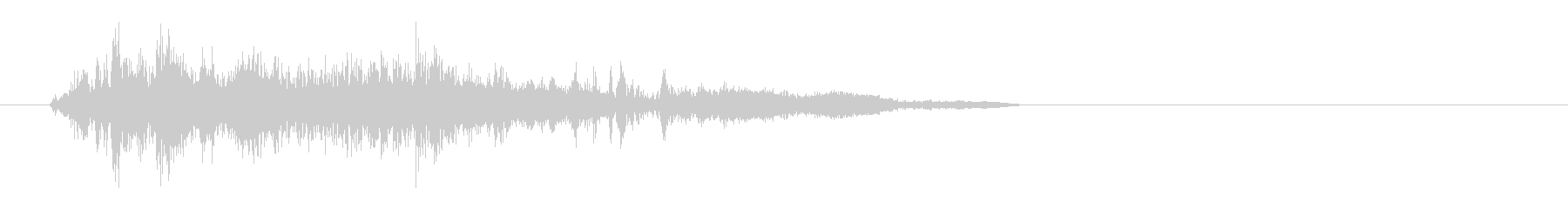 ジャシャッ(物音)短めの未再生の波形