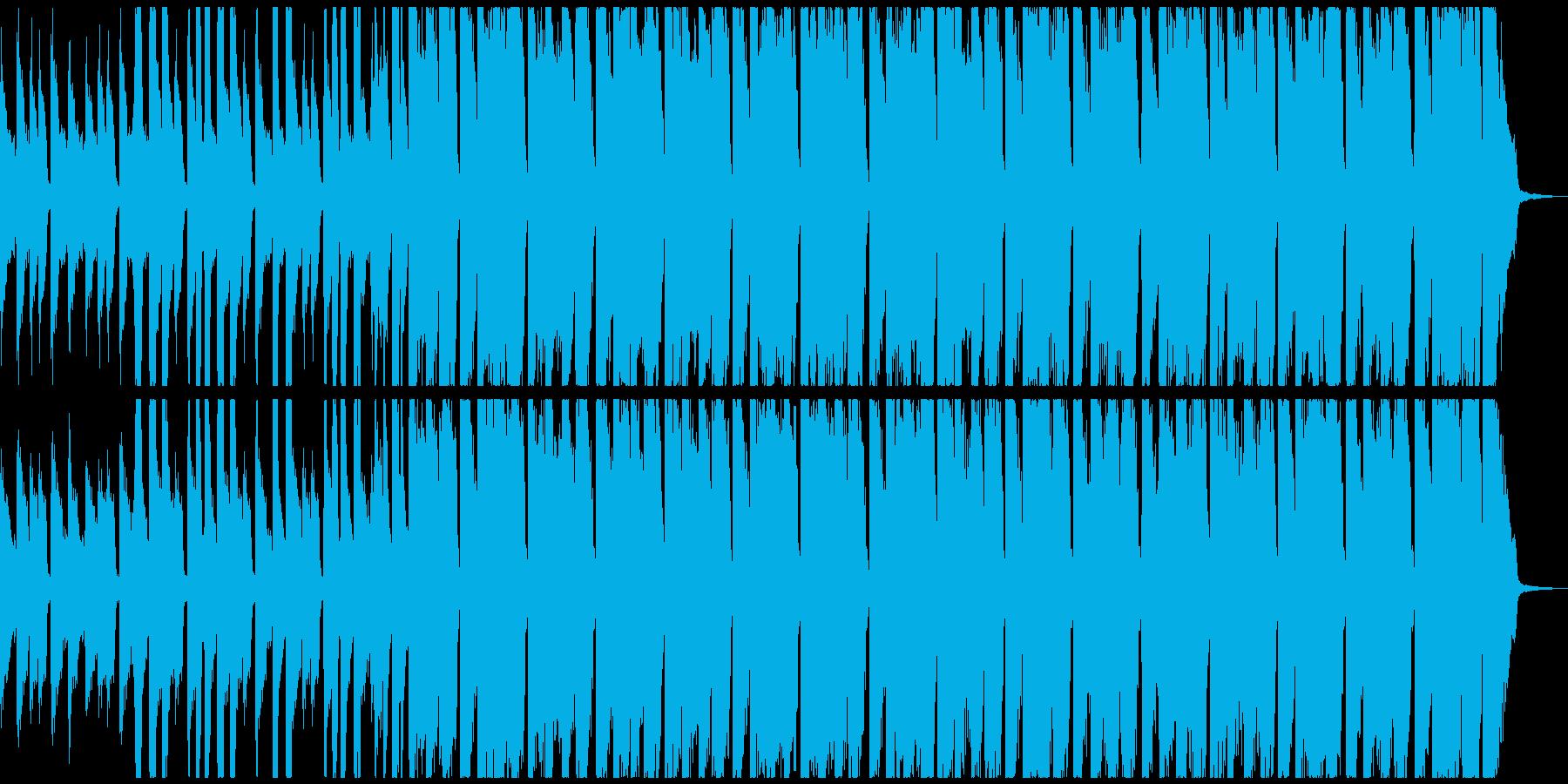 ピアノ、ギター、掛け声のハッピーソング!の再生済みの波形