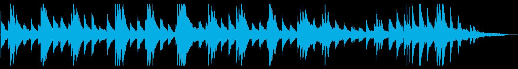 ノスタルジックで美しい旋律のピアノ曲の再生済みの波形
