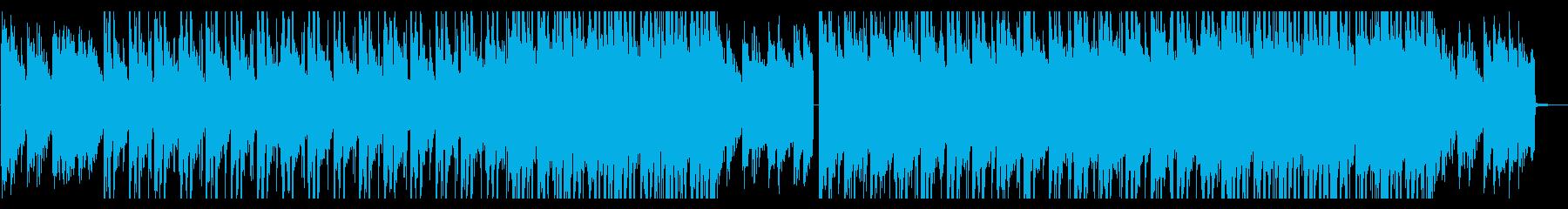 夕暮れイメージのクールで切ない雰囲気な曲の再生済みの波形