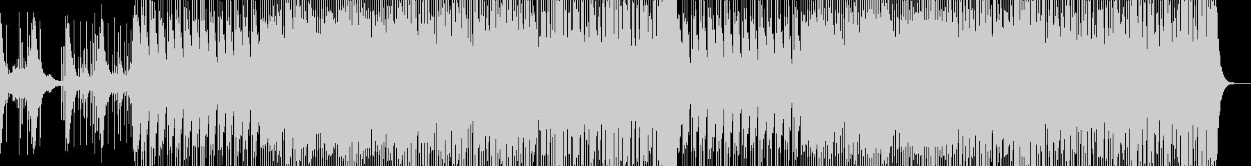 威勢の良い三味線と和太鼓の未再生の波形