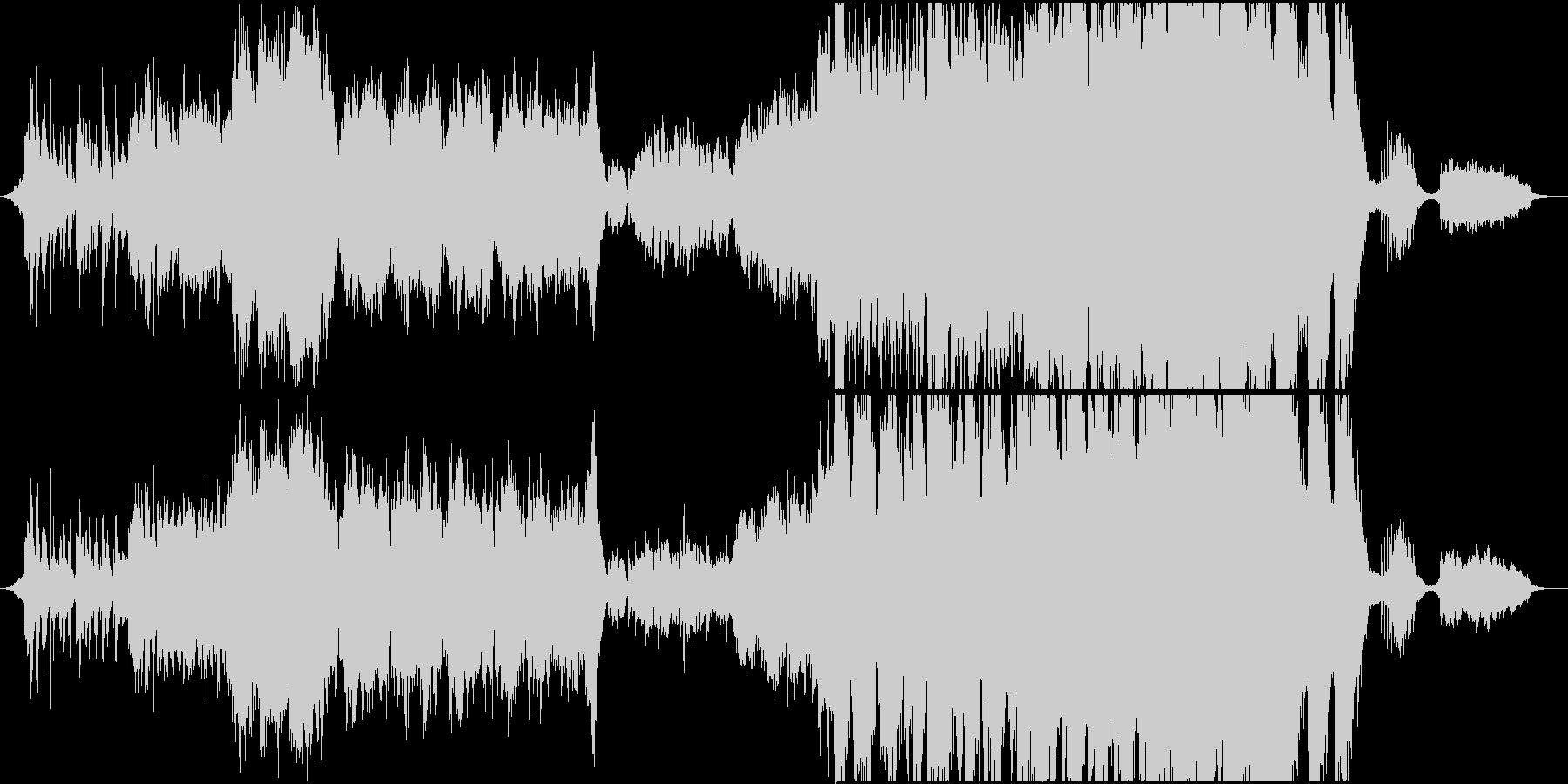 琴とオーケストラはんなり壮大な和風曲の未再生の波形